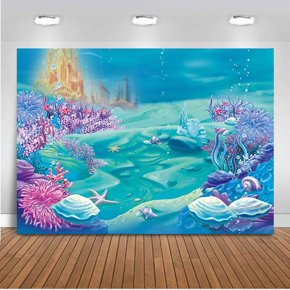 Under Sea Castle Backdrop