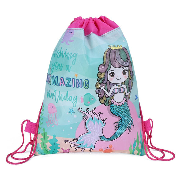 Drawstring birthday backpack