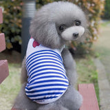Summer Navy Stripe Cat Vest