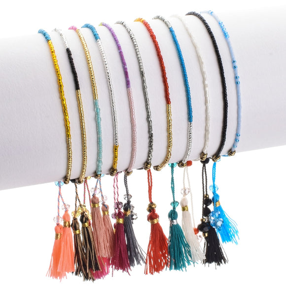 Seed Beads Multilayer Tassel Bracelet