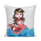 CORAL SIRENA Sequin Cushion Cover