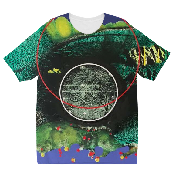 COMPOSICION MICROSCOPICA EN VERDE Y AZUL Sublimation Kids T-Shirt
