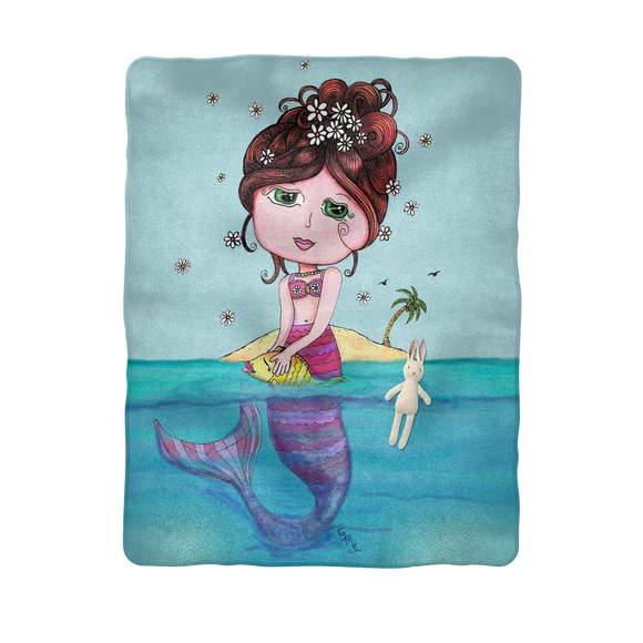 ANDREA MERMAID Sublimation Baby Blanket