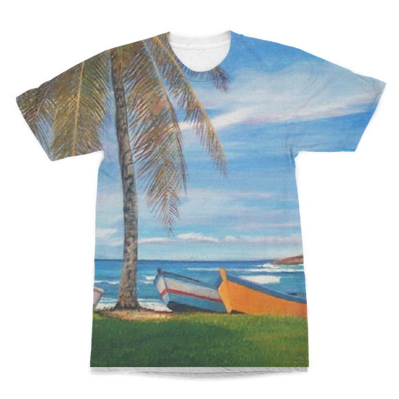 MANUEL - BOTE PLAYA CAMUY Premium Sublimation Adult T-Shirt