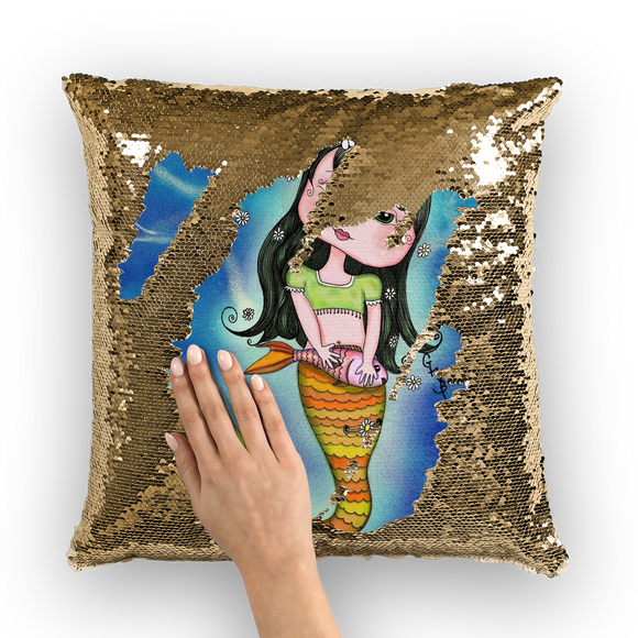 ADRIANA MERMAID Sequin Cushion Cover