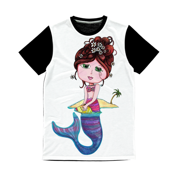 ANDREA SIRENA Classic Sublimation Panel T-Shirt