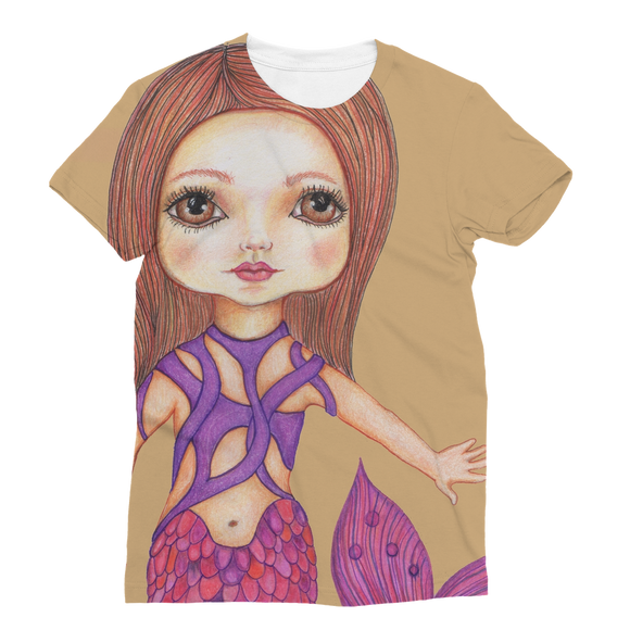 JULIA MERMAID Classic Sublimation Women's T-Shirt