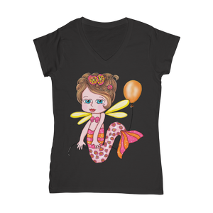 NELLY SIRENA Classic Women's V-Neck T-Shirt