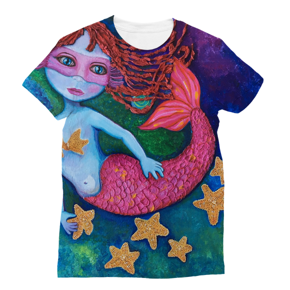 GRACE - SIRENA FUSHIA Classic Sublimation Women's T-Shirt