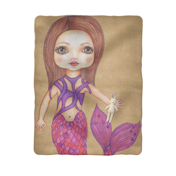 JULIA MERMAID Sublimation Baby Blanket
