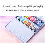 Colors Pearlescent Glitter Watercolor Paints Sets