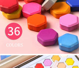36 Colors Solid Watercolor Pigments