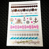 Metallic Water Transfer Temporary Removable Tattoo