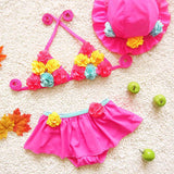 Flower girl bikini swimwear