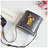 Elegant Vintage Embossed Bucket Bag