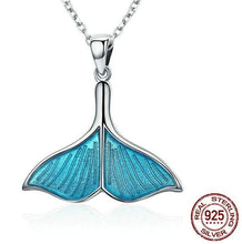 925 Sterling Silver Enamel Tail Necklace
