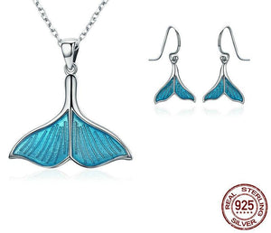 925 Sterling Silver Jewelry Set Tail