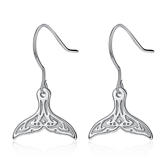 925 sterling silver mermaid tail earrings