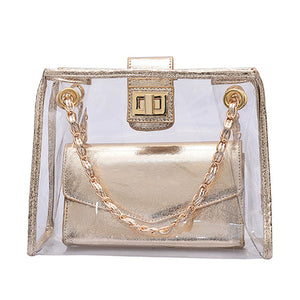 Transparent Holographic Shoulder Bag