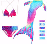 3Pcs/Set Children Mermaid Tail Swimsuit