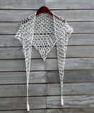 Crochet Mesh Bikini Cover With Sequins