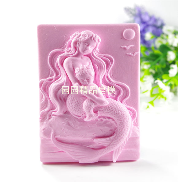 Mermaid Baby Silicone Mold