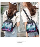 Sequins Leather Mini Backpacks
