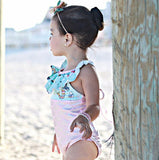 Mermaid Ruffle Strap One-piece Swimsuit