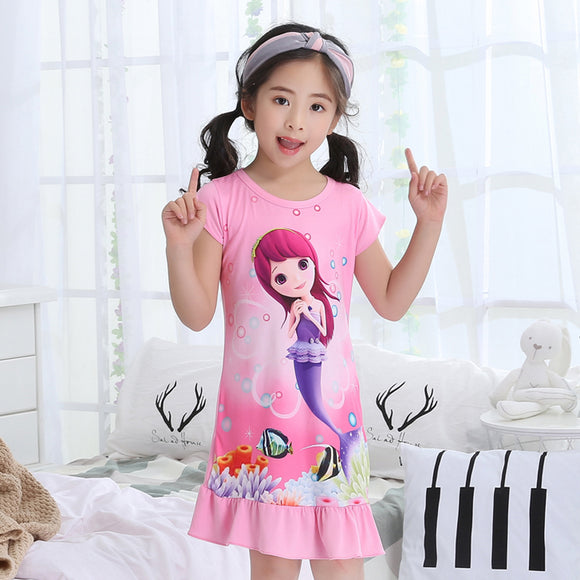 Mermaid Sleep Dress Girls Pajamas
