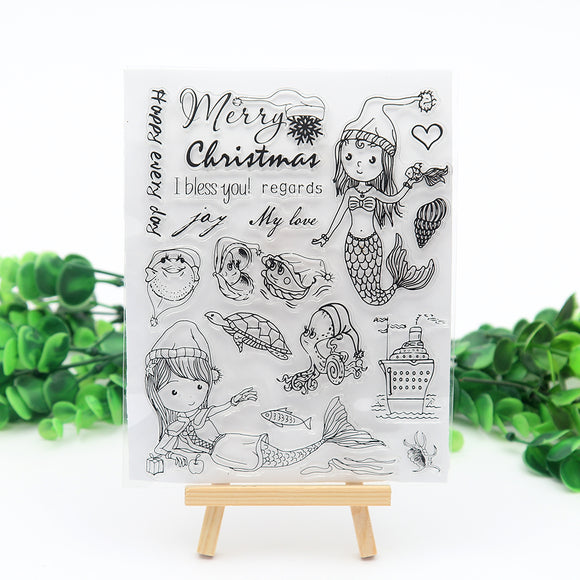 Mermaid Clear Silicone Stamp Scrapbook