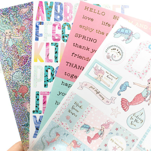 Lovely Mermaid Self- adhesive Scrapbooking