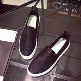 Women's  Sequins Loafer Shoes