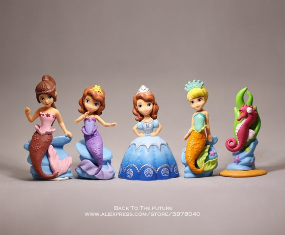 Disney Sofia Mermaid princess 5pcs/set 8-9cm