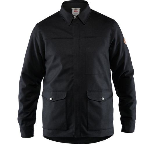 Greenland Re-Wool Men's Shirt Jacket in Black
