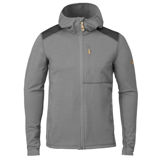 Keb Fleece Hoodie in Grey-Dark Grey