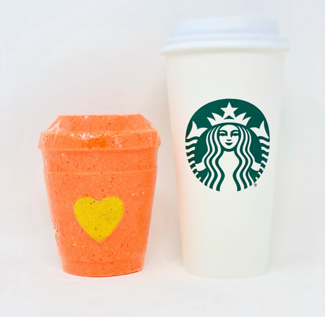 Pumpkin Spice Latte Coffee Cup Bath Bombs