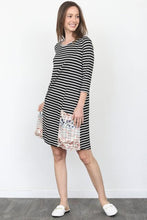 Load image into Gallery viewer, NicholeMadison Amzie Striped Shift Dress