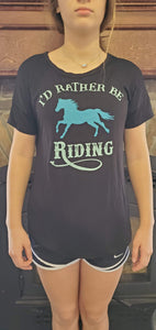 NicholeMadison Black-I'd Rather Be Riding-Short Sleeve / S Rural Collection