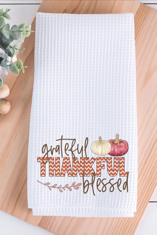 NicholeMadison Grateful, Thankful, Blessed Hand Towel