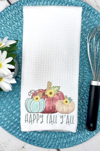 NicholeMadison Happy Fall Y'all Hand Towel