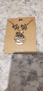 NicholeMadison Horse necklace & earrings combo