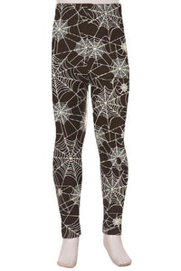 NicholeMadison Kids Spiderweb Black Leggings