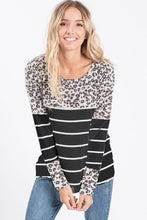 Load image into Gallery viewer, NicholeMadison Maddy Leopard/Stripe Shirt