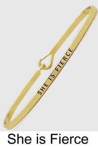 NicholeMadison She is Fierce Gold Bracelet