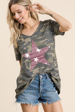 Load image into Gallery viewer, NicholeMadison Shirt Camouflage Star