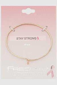 "NicholeMadison ""Stay Strong"" Gold Bracelet"