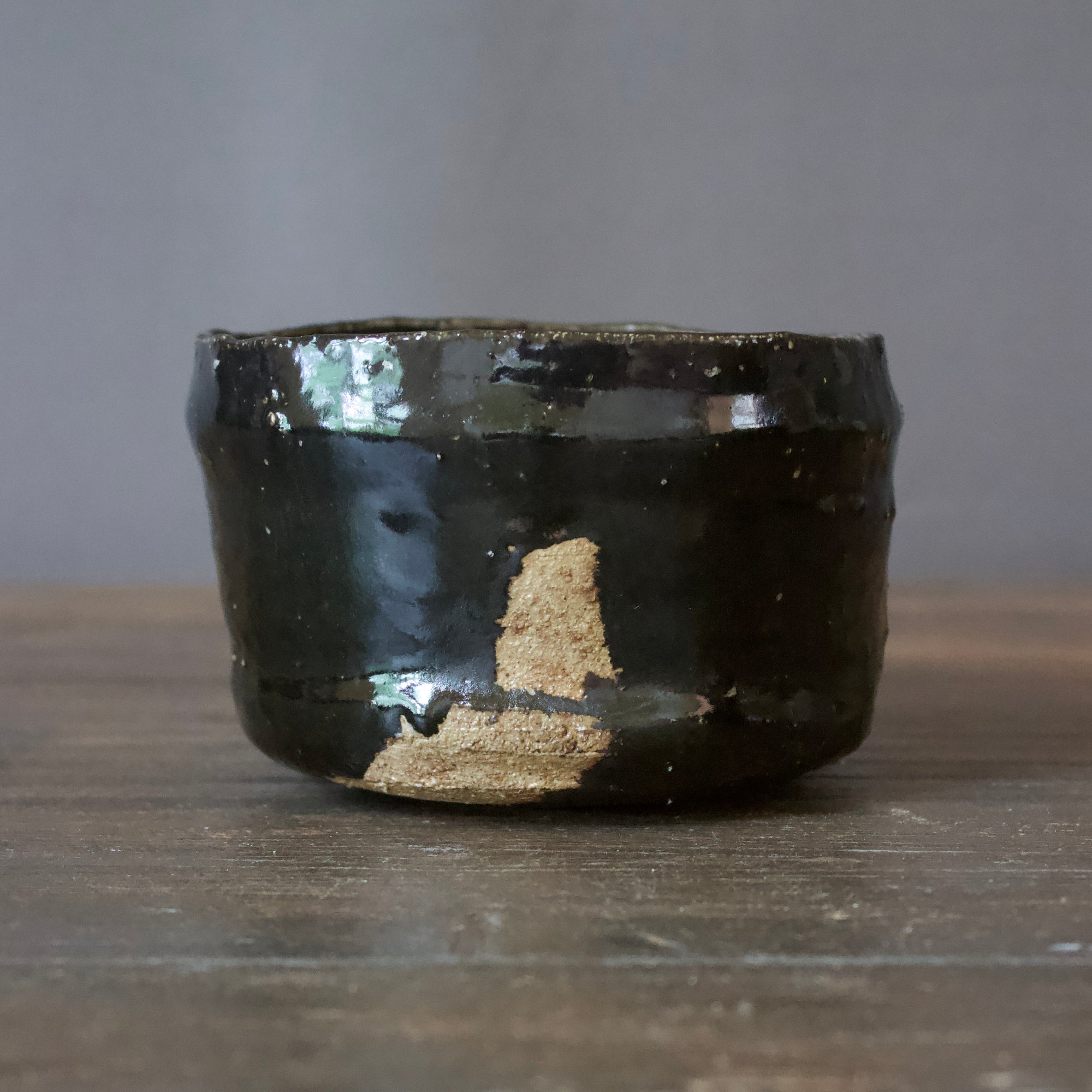 HIKIDASHI-GURO Tea Ceremony Bowl #FQ