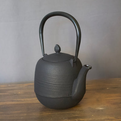 "Cast Iron Tea Pot ""Pine Cone"" Black #480-480"