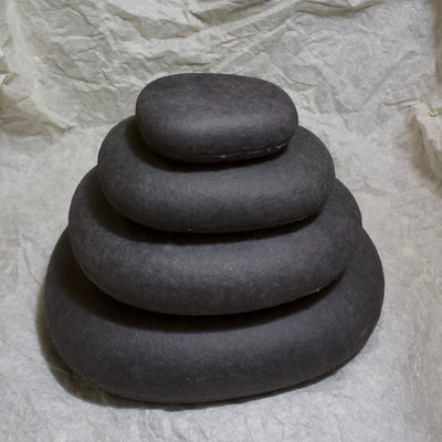 Stacking WASHI Stone set of 4 Dark Gray