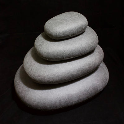 Stacking WASHI Stone set of 4 Light Gray